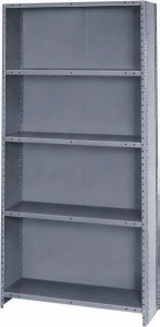 industrial steel shelves & cabinets