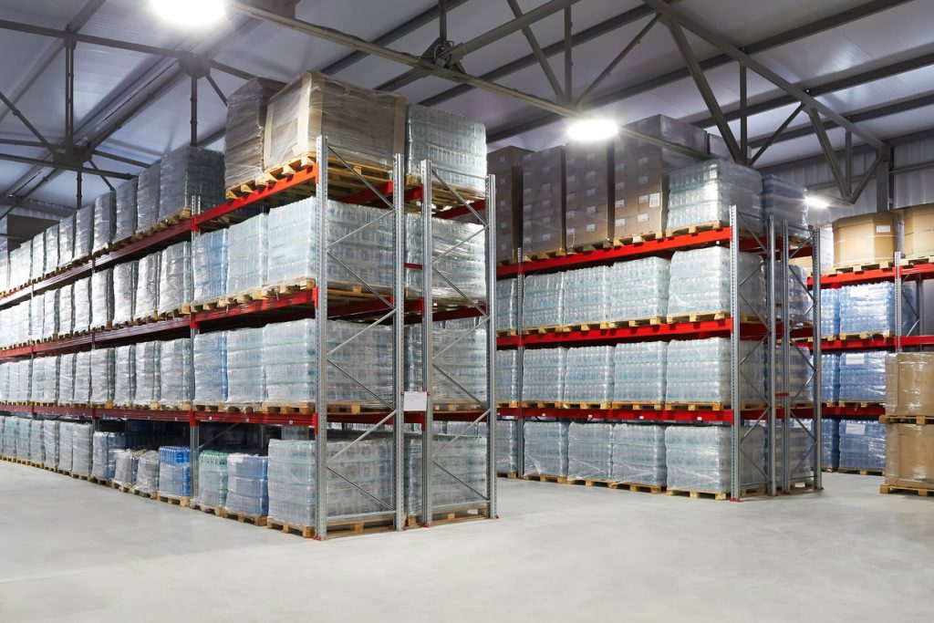 A warehouse with secure pallet racking