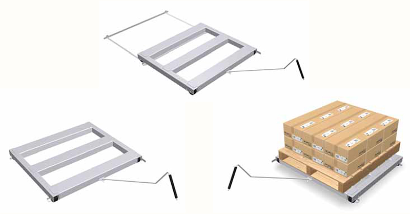 Roll Out Pallets Floor Mounted