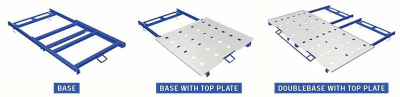 Roll Out Pallets Rack Mount Bases